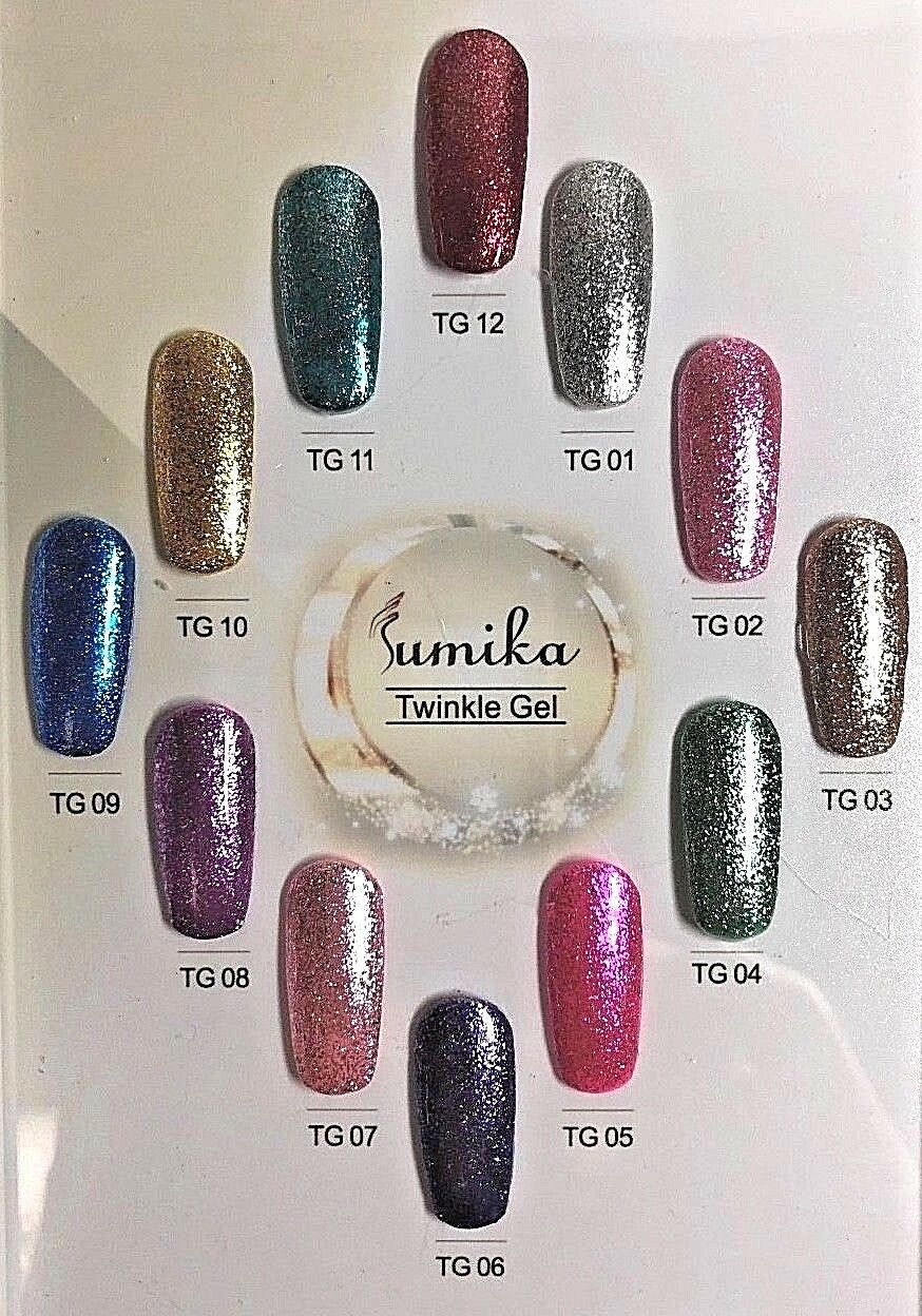 twinkle gel polish super shiny nails glitter