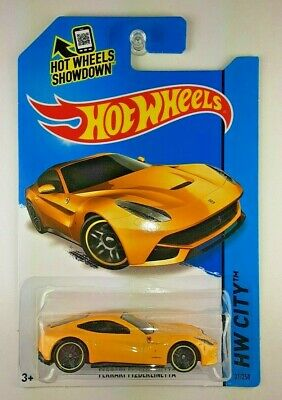 HOT WHEELS FERRARI F12 BERLINETTA YELLOW