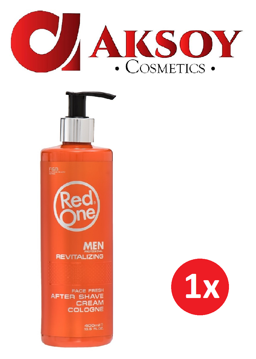 (22,25€ / L ) Red One Cream Cologne Revitalizing After Shave Balsam 400ml