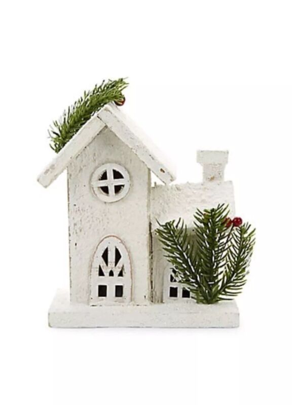 *NEW* Gluckstein Home Battery Operated LED Wood House COUNTRY FARMHOUSE DECOR