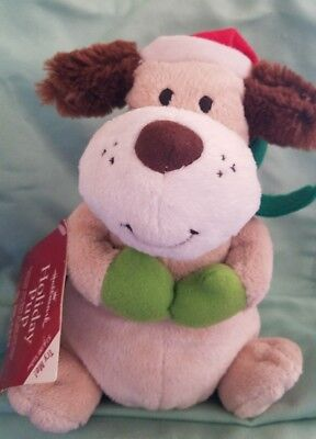 NWT Hallmark Christmas Pup Plush Ears Wiggle Dog Plays Jingle Bell Song  ()