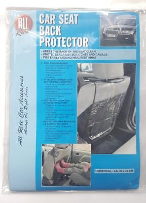 Car Seat Back Protector Seat  Child Scratch Damage Universal Fit Clear Black FF