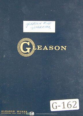 Gleason 12 Straight Bevel B Gear Generator Operators Instructions Manual 1964