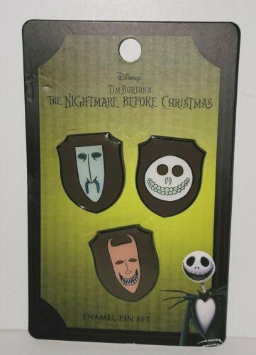 DISNEY LOUNGEFLY NIGHTMARE BEFORE CHRISTMAS LOCK SHOCK BARREL MASK PIN SET/3