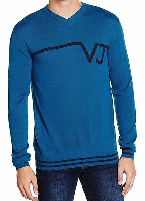 Versace Jeans men's blue jumper size L*- Made in Italy