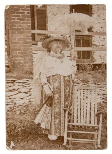 Scandalous Original Photo of Battle of Little Bighorn Survivor Dressed as Woman