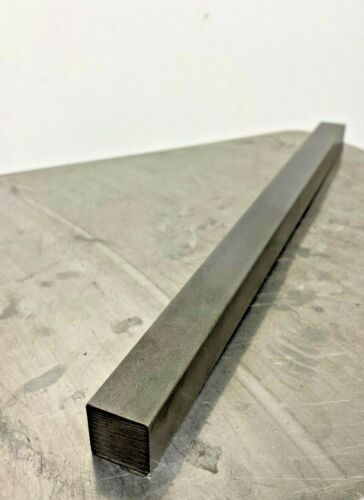 "12L14 Square Carbon Steel Bars, 3/4"" Square x 1 Ft Length"