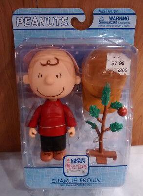 New Peanuts Charlie Brown w/ Cap & Pathetic Tree 2006 A Charlie Brown Christmas Charlie Brown Pathetic Christmas Tree