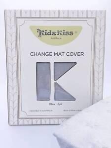 KIDZ KISS NURSERY ESSENTIALS SHERPA CHANGE MAT COVER - GREY Ringwood East Maroondah Area Preview
