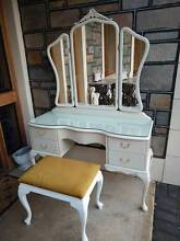Queen Anne French Style Dressing Table with Stool Oakden Port Adelaide Area Preview