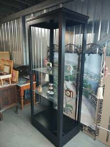 ASHLEY FURNITURE Large Black Display Cabinet with 2 Glass Shelves Klemzig Port Adelaide Area Preview