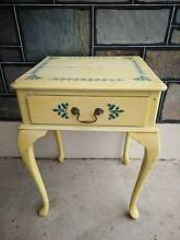 Vintage Queen Anne French Style Single Drawer Bedside Table Oakden Port Adelaide Area Preview