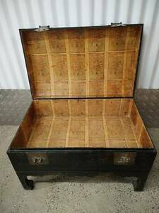 Vintage Chinese Trunk Coffee Table Bedside Chest Klemzig Port Adelaide Area Preview