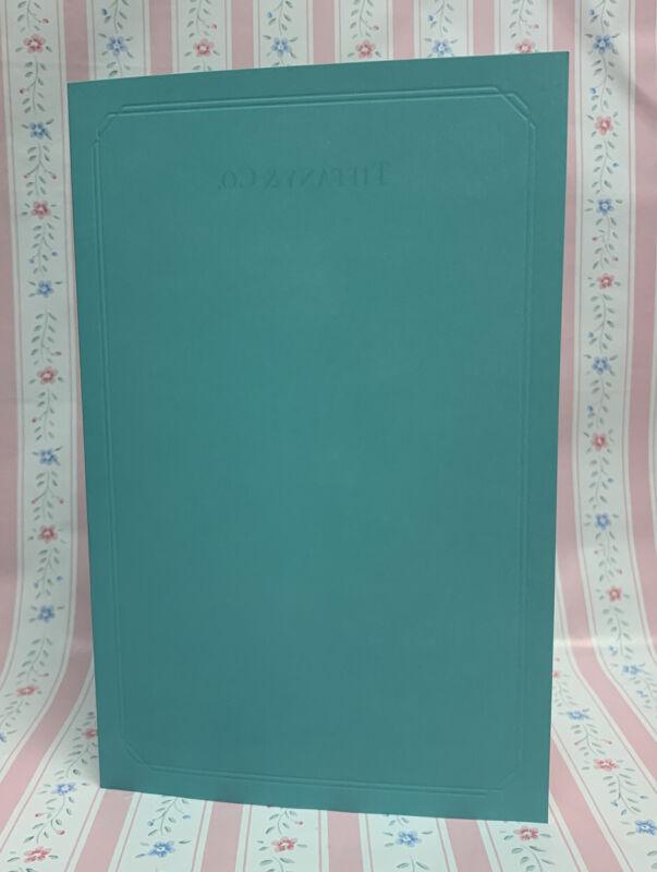 Blank Authentic Tiffany & Co. Diamond Quality Plain Certificate Card