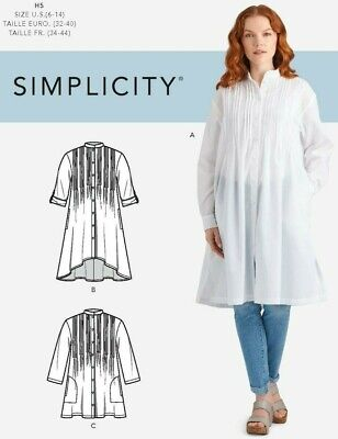 S9044 Sewing Pattern Misses' Sizes 16-24 Top with Tucks Sleeve Var. 039363690443