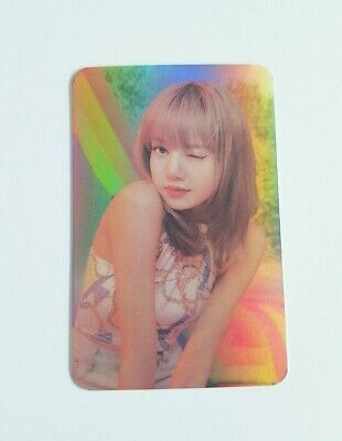 K-POP BLACKPINK Lisa Hologram Photocard - Official New YG Goods Christmas SET