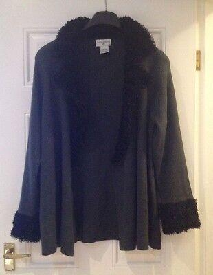 Lovely KATHY IRELAND woman dark grey cardigan size  XL
