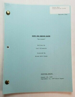 BUFFY THE VAMPIRE SLAYER / Carl Ellsworth 1997 Script, costume shop