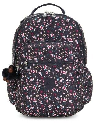 Kipling SEOUL GO Large Backpack with Laptop Compartment - Floral Gardenia