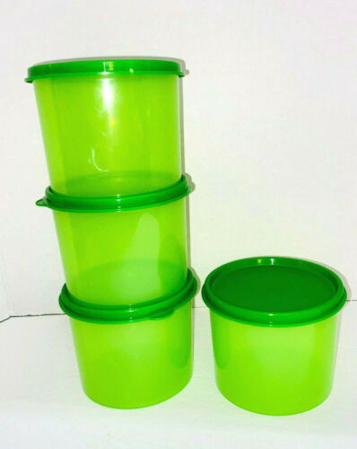 4 NEW Tupperware Small Green Storage Canister (4623B)