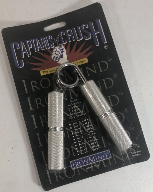 CAPTAINS OF CRUSH Hand Grip Level 3 Trainer 100 lb Iron Mind Metal Strength