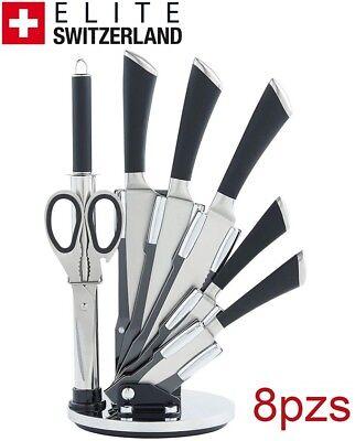 Juego de cuchillos set de cocina 8 pzs ELITE SWITZERLAND 2 AÑOS...