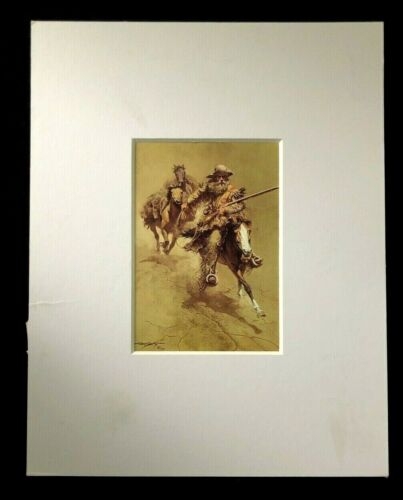 """Frank C McCarthy """"An Old-Time Mountain Man"""" 11 x 14 Matted Western Print"""
