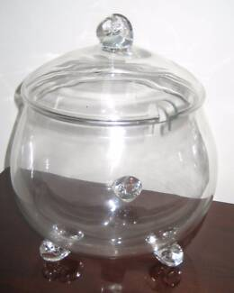 Glass punch bowl set - new