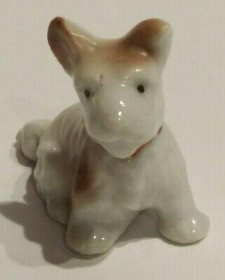 Vintage Porcelain Scottish Terrier Dog Miniature Figurine JAPAN