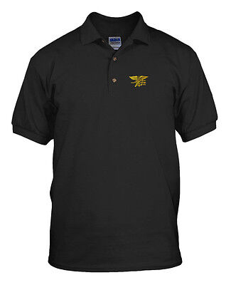 U.S. NAVY SEAL MILITARY Embroidery Embroidered Unisex Adult Golf Polo Shirt  - Navy Seal Embroidered T-shirt