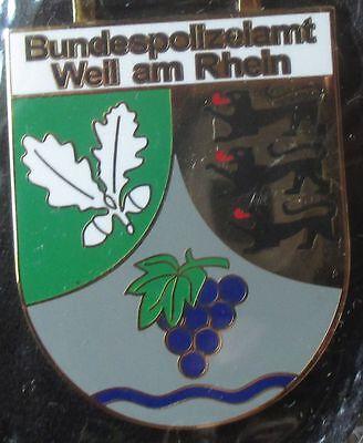 Brustanhänger Verbandsabzeichen Bundesgrenzschutzamt Weil am Rhein (R)