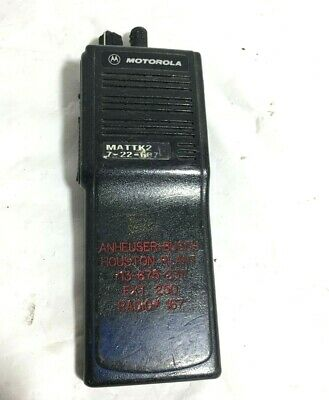Motorola Mts2000 Flashport H01ucd6pw1bn Handie Talkie Fm Radio