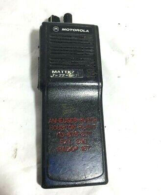 Motorola Mts2000 Flashport H01ucd6pw1bn Handie Talkie Fm Radio