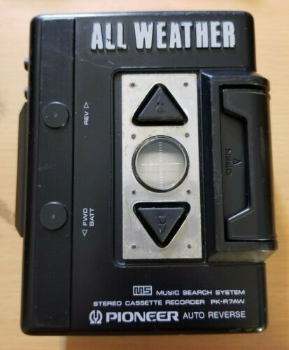 Pioneer All Weather personal stereo cassette recorder PK-R7AW Works TESTED
