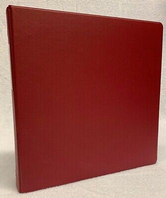 Vintage Wilson Jones Dublock 3 3 Ring Binder- Red