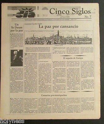 El Nuevo Dia    Vintage Newspaper   Cinco Siglos De Historia   7   Puerto Rico