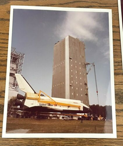 Choose one: 1978 NASA Space Shuttle Enterprise install Dynamic Test Stand MSFC