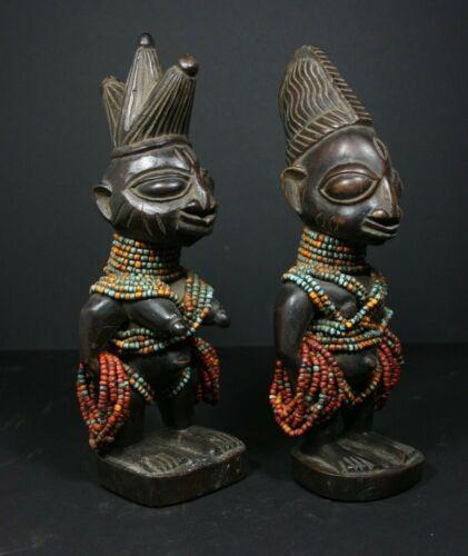 2 Ere Ibedji Twin Figures, YORUBA tribe, Nigeria,  AFRICAN TRIBAL ART PRIMITIF