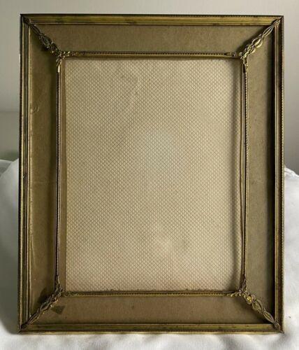 Vintage Gold Gilt Dore Metal Glass Picture Frame Antique Picture Frame