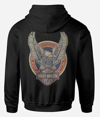 HARLEY DAVIDSON EAGLE DESIGN  -  HOODIE - SIZE UP TO 5XL - CAN BE PERSONALISED