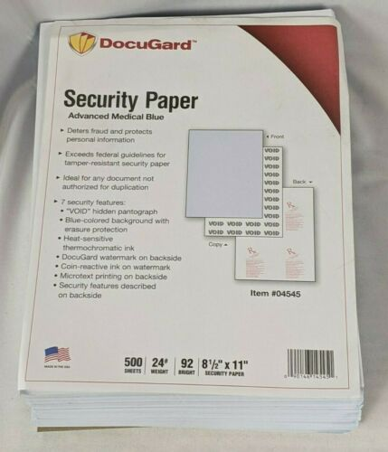 DocuGard Advanced Medical Security Paper 500 Sheets (04545)