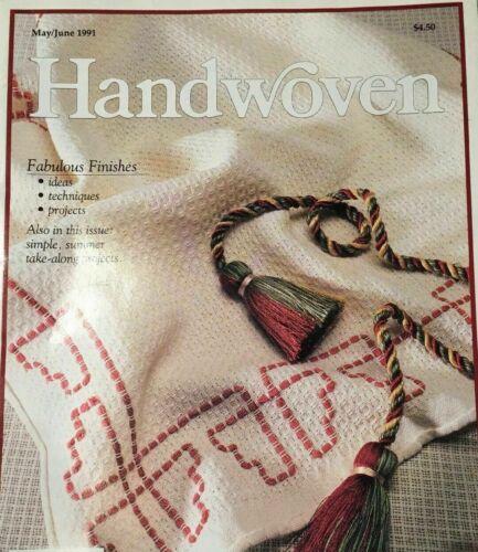 Handwoven magazine May June 1991: FABULOUS FINISHES