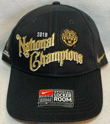 Official 2019 College National Champions Football LSU Tigers Locker Room Hat -