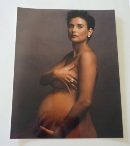 Demi Moore Sexy Actor Actress 8x10 Color Promo Photo Pregnant