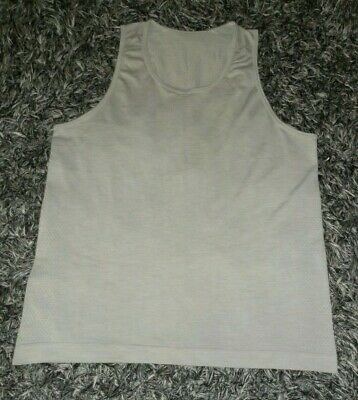 Lululemon Men's L/Large Metal Vent Tech Beige Sleeveless Tank