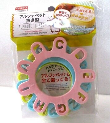 DAISO JAPAN  ALPHABET FOOD MOLD Good for Ham & Cheese Lunch Series Bento!