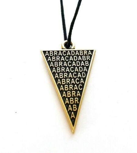 ABRACADABRA Pendant Necklace Amulet Abraxas Occult Kabbalah Talisman Good Luck