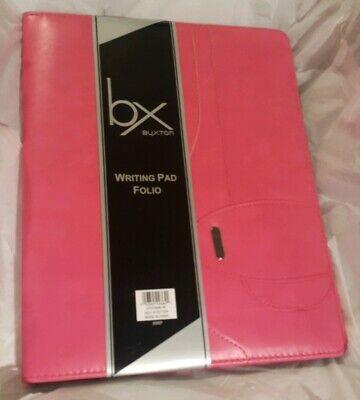 Buxton Pink Faux Leather Writing Pad Folio New