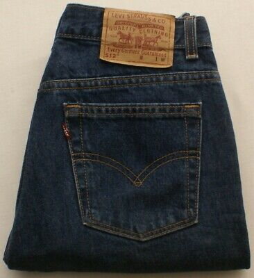 Vintage USA Levis 512 SLIM TAPERED High Rise Dark Blue Mom Jeans womens 10P M