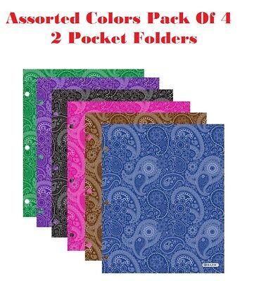 2 Pocket Portfolio A4 Folders Pack Of 4 Stylish Glossy Modern Finish Folders Set